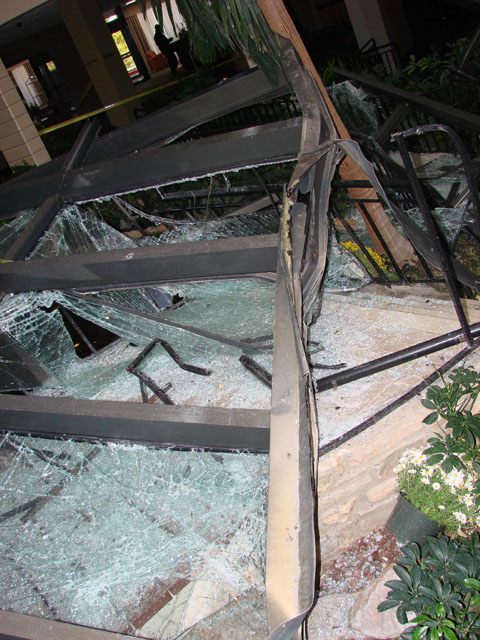 Forensic investigation of a collapse of a large section of glazing.